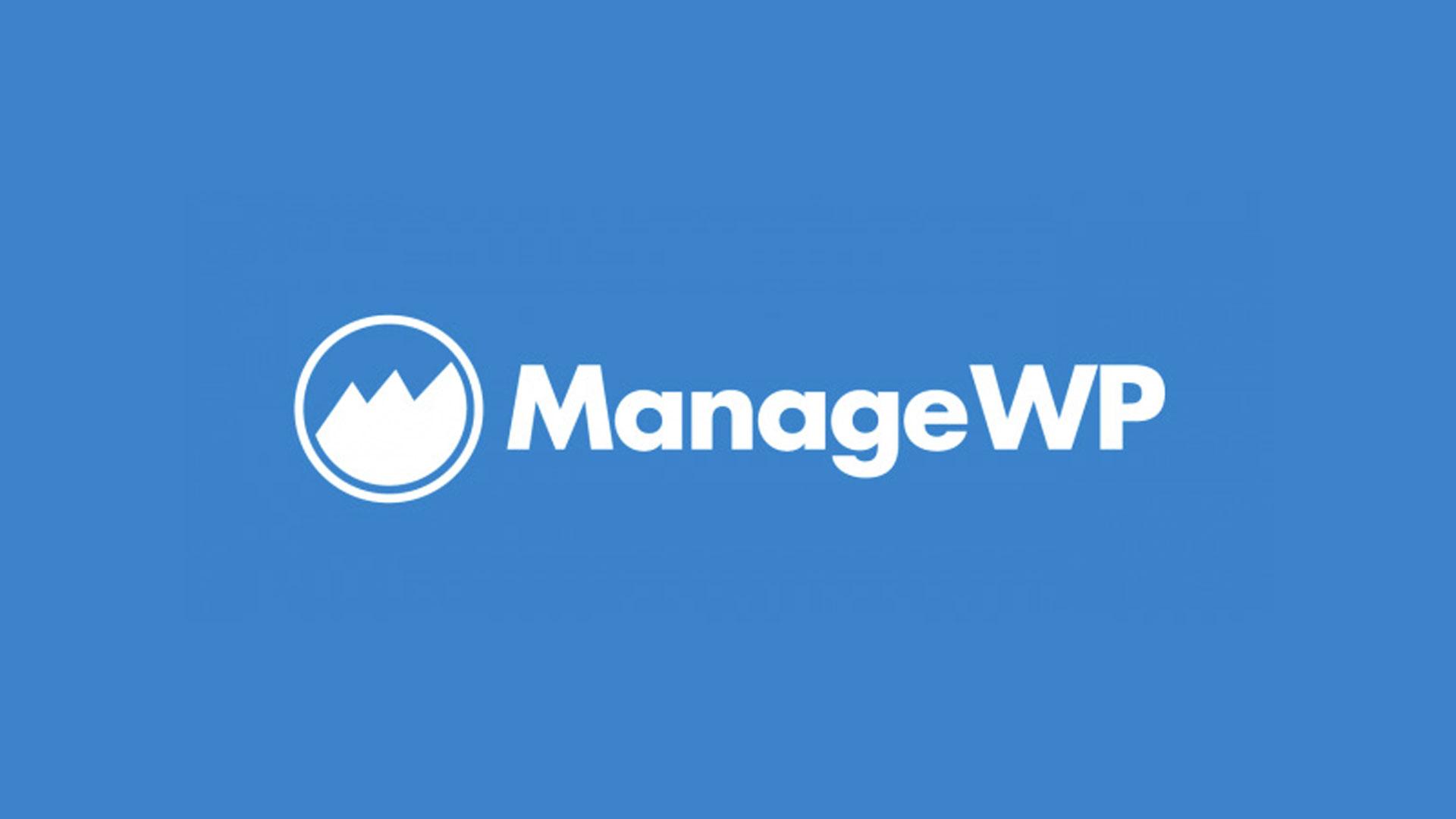 ManageWp - Applicazione web di gestione multipla di installazione di WordPress