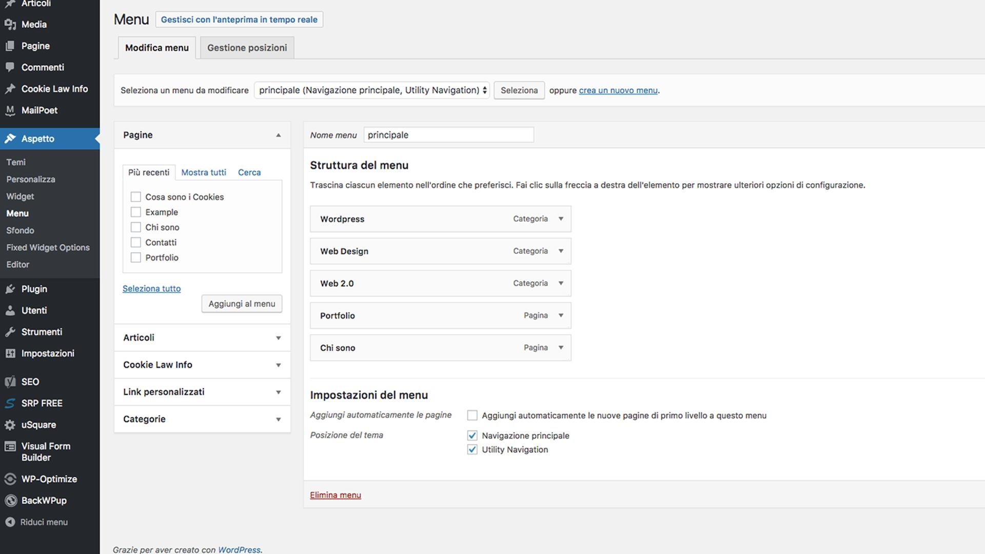 Integrare tramite shortcode la funzione dei menu personalizzati in articoli e pagine WordPress